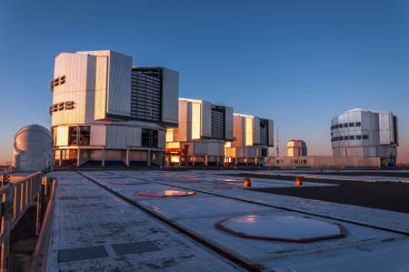 Sun setting at the VLT on the Cerro Paranal in Chile