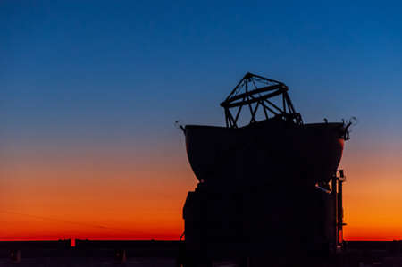The auxillery telescope at dusk