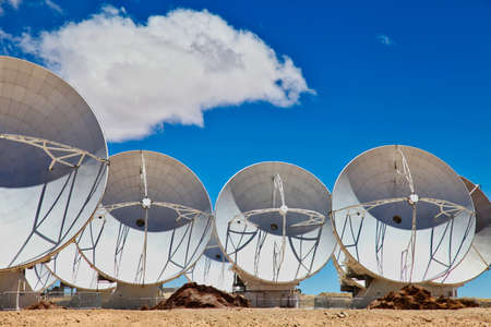 The worldwide biggest telescope Array in Chile Stock Photo
