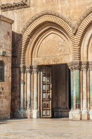 Entrance to the Church of the Holy Sepulchre