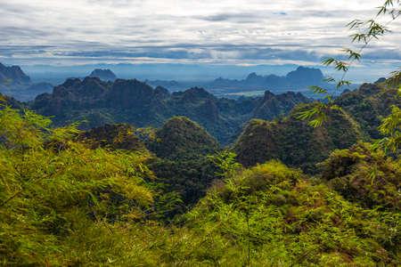 View from Mount Zwegabin, Hpa-An, Myanmar