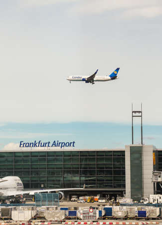 Frankfurt, Germany- 25 June 2017: condor airplane at frankfurt airport germany Editorial