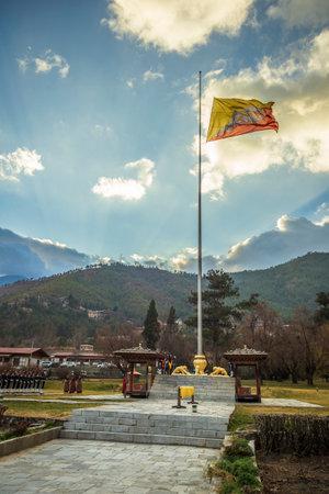 Thimphu flag ceremony