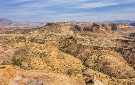 Panoramic of Debre Damo landscape in Tigray region, Ethiopia. Stock Photo - 122173127