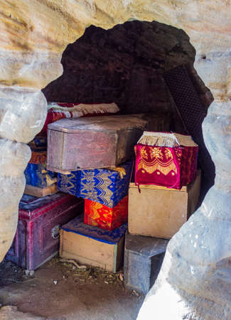 Coffins at Debre Damo Monastery in Tigray region, Ethiopia.