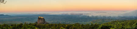 Panorma of a Sunrise at Mount Popa in Mynamar
