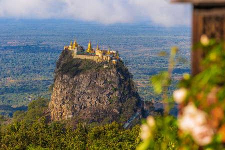 Mount Popa on an old volcano in Bagan, Myanmar