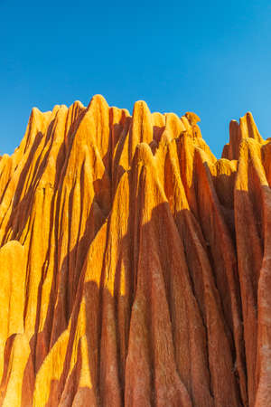 Red Tsingy are a stone formation of red laterite found in the North of Madagascar near Diego Suarez
