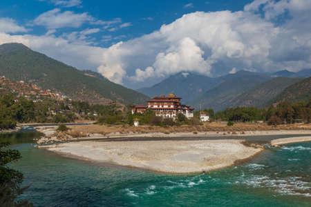 The famous Punakha Dzong in Bhutan