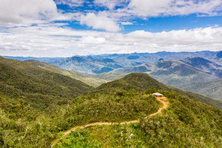 Landscape near Los Chilchos, Chachapoyas, Peru. Imagens