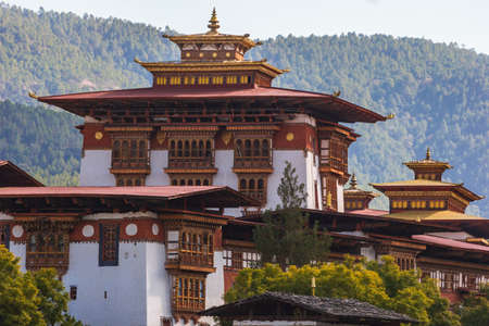 The famous Punakha Dzong in Bhutan