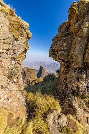 Amazing landscape in the Simian mountains, Ethiopia. Stockfoto