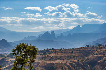 Breathtaking landscape view in the Simien Mountains National Park, Ethiopia Stockfoto