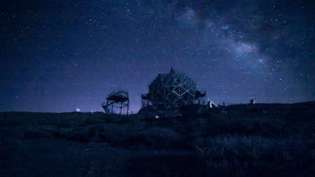 MAGIC - Observatorio del Roque de los Muchachos Foto de archivo