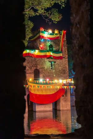 Timkat festival in Gonder, Ethiopia 免版税图像