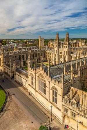High angle view of Kings College Chapel, UK