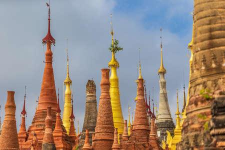 Golden Pagodas at Shwe Indein