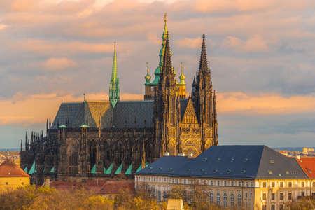 Prague Castle at sunset - Czech republic 写真素材