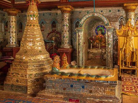 Inside the Shwe Inn Thein Temple