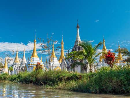Buddhist Pagodas at Lake Inle 写真素材
