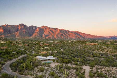 Desert Evening in Tucson Arizona 写真素材