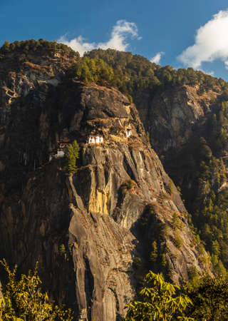 View of Tigers Nest Monastery on the mountain, Bhutan
