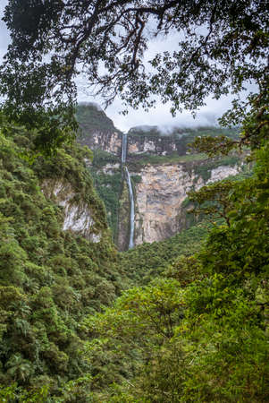 Gocta waterfall, 771m high. Amazonas, Peru