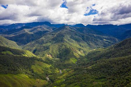 Wide view of the chachapoyan jungle near Leymebamba