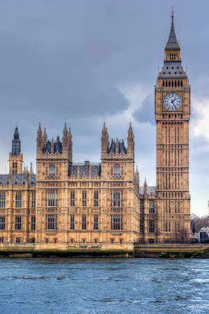 Big Ben and House of Parliament on Thames river