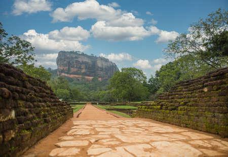 Footpath leading to Sigiriya (Lions rock) Stok Fotoğraf