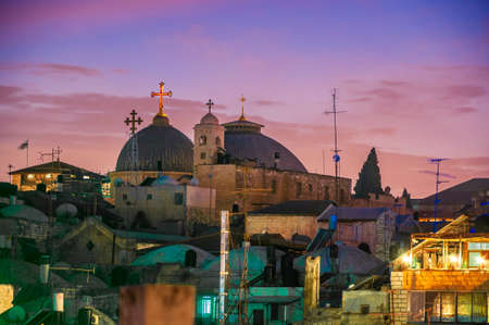 Church of the Holy Sepulchre at dusk