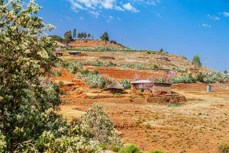 Basotho vilage near Ribaneng, Malealea - Lesotho Reklamní fotografie