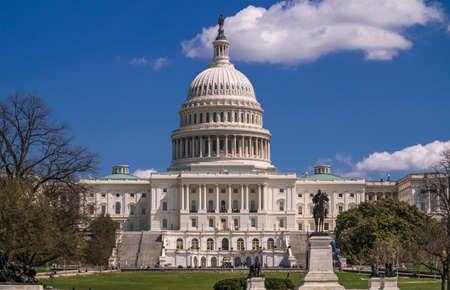 Blue sky over the U.S. Capitol Building