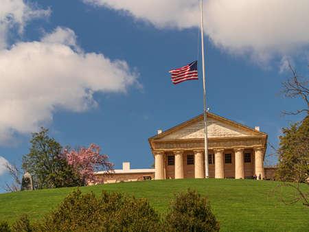 Arlington House, at Arlington Cemetery in Virginia Stock Photo