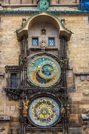 The unique Orloj clocktower in Prague
