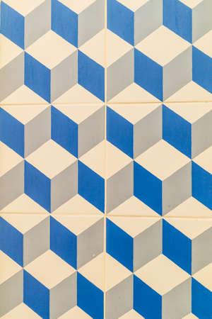 Modern pattern on portugese tiles Stock Photo