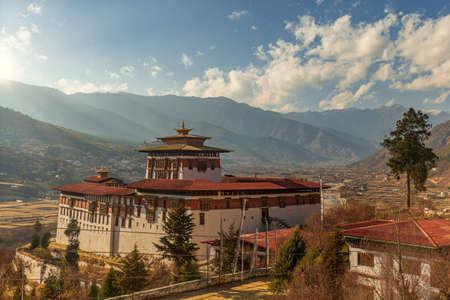Paro Rinpung Dzong a Paro, - Bhutan Archivio Fotografico