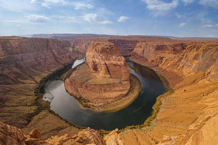 Aerial shot of Grand Canyon, Horseshoe Bend and Colorado river - Arizona
