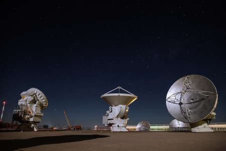 Alma Radio Observatory in the Desert of Atacama, Chile Banque d'images