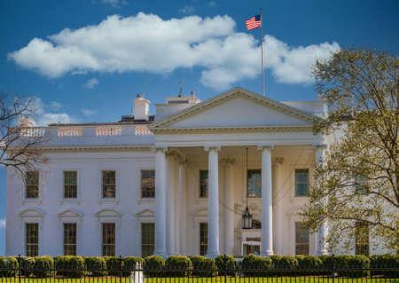 Blue sky over the White House, Washington DC