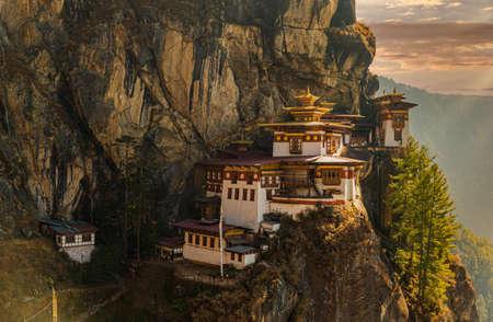 Tigers nest Temple or Taktsang Palphug Monastery in Paro, Bhutan