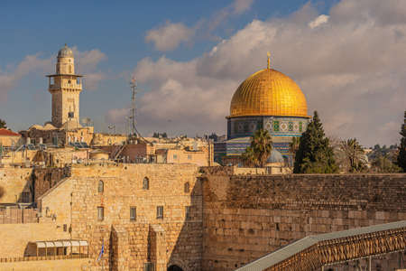 The Dome of the Rock in Jerusalem, Israel 스톡 콘텐츠