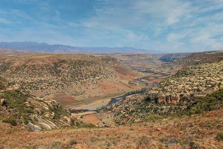 The amazing landscape of Lesotho Stock Photo