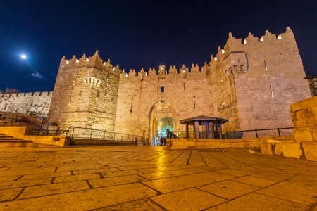 Damascus gate, nord entrance to muslim quarter of Jerusalem, Israel
