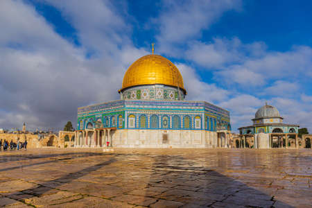 The Dome of the Rock and the Dome of the Chain in Jerusalem, Israel