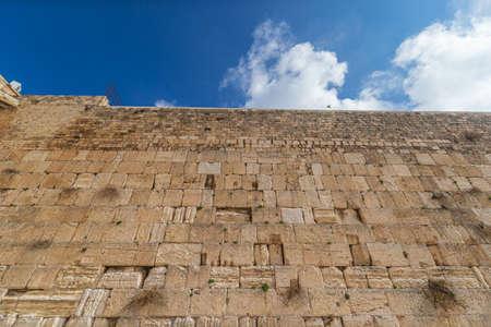 The Western (Wailing) Wall in Jerusalem, Israel 스톡 콘텐츠
