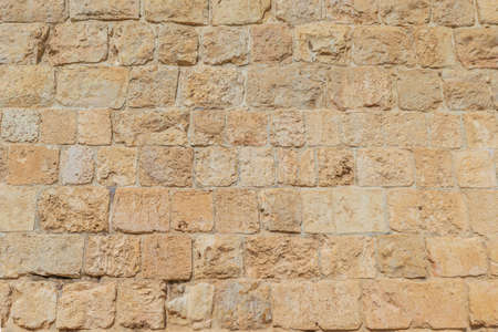 Bricks in the wall surrounding the Old City in Jerusalem, Israel