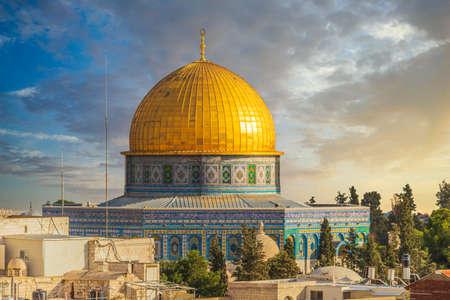 Cupola della roccia sul Monte del Tempio nella Città Vecchia di Gerusalemme.