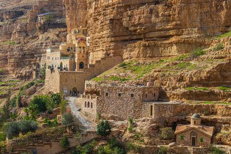 Greek Orthodox monastery of Saint George in Wadi Qelt Stockfoto