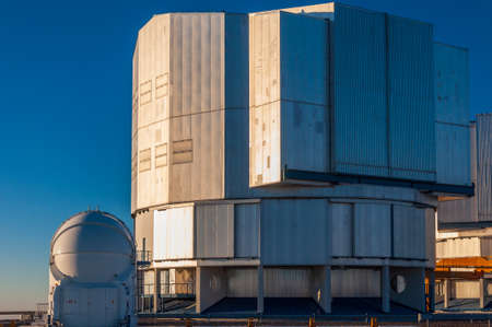 The VLT, Very Large Telescope complex at the European Southern Observatory located on Cerro Paranal in the middle of the Atacama desert